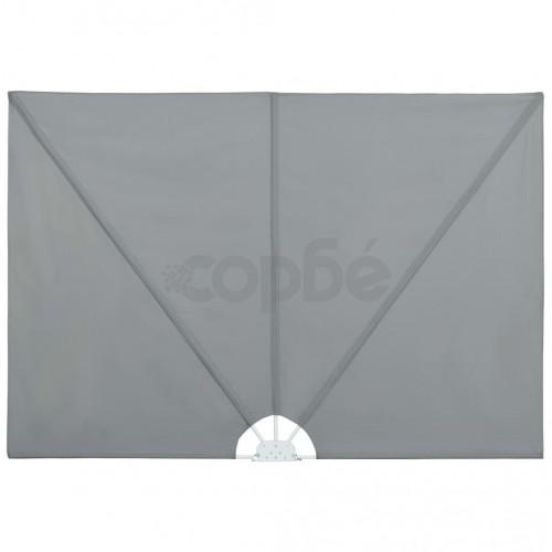Градински сенник, сгъваем, 400x200 см, сив