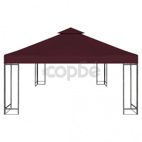 Двоен покрив за шатра, 310 г/м², 3x3 м, бордо