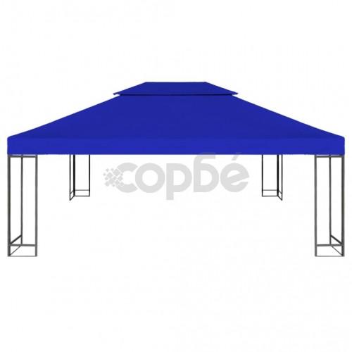 Двоен покрив за шатра, 310 г/м², 4x3 м, син