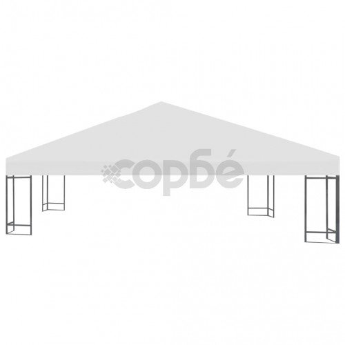 Покрив за шатра, 310 г/м², 3x3 м, кремавобял