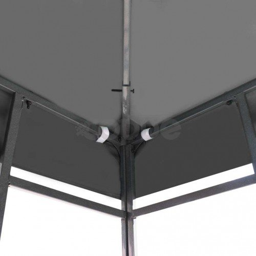 Покрив за шатра, 310 г/м², 3x3 м, сив