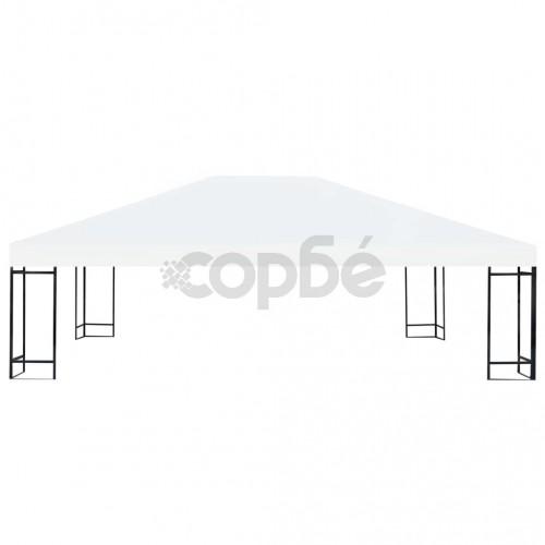 Покрив за шатра, 310 г/м², 4x3 м, кремавобял
