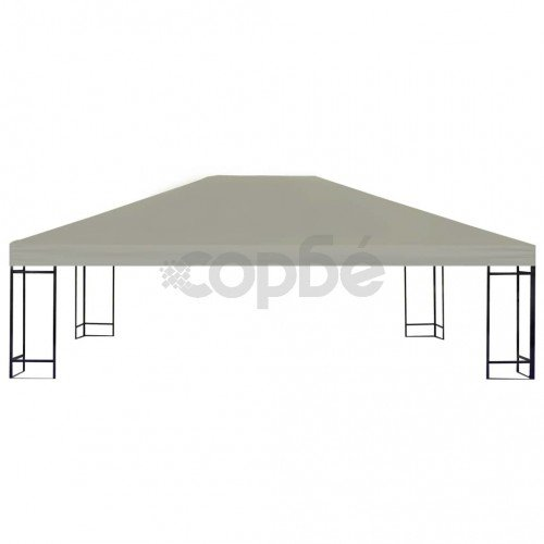 Покрив за шатра, 310 г/м², 4x3 м, кафяв