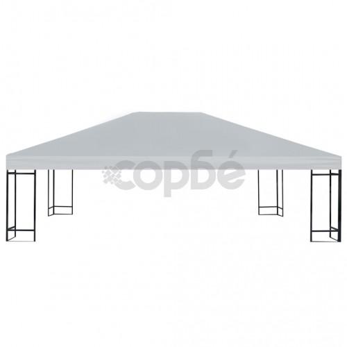Покрив за шатра, 310 г/м², 4x3 м, сив