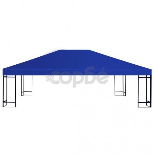 Покрив за шатра, 310 г/м², 4x3 м, син