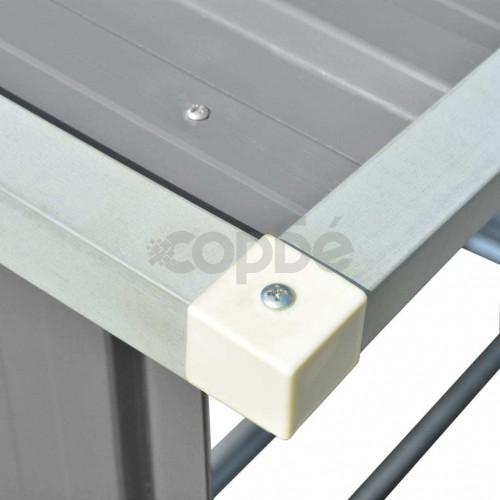 Навес за дърва, поцинкована стомана, 163x83x154 см, сив