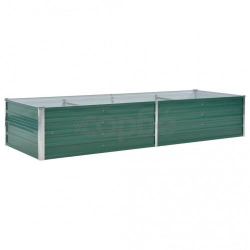 Градинска висока леха поцинкована стомана 240x80x45 см зелена