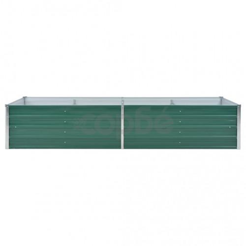 Градински плантер, поцинкована стомана, 240x80x45 см, зелен