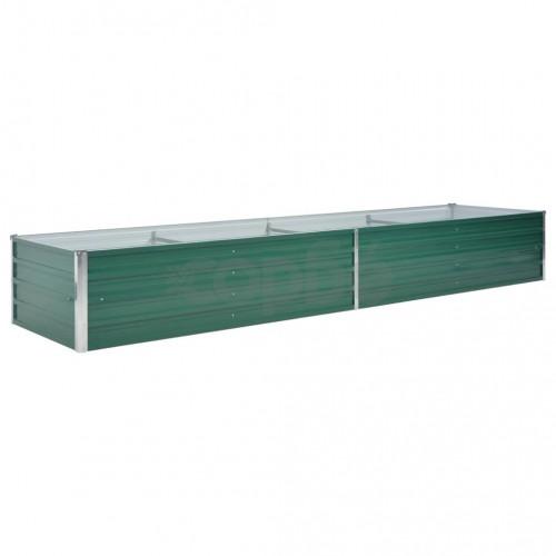 Градински плантер, поцинкована стомана, 320x80x45 см, зелен
