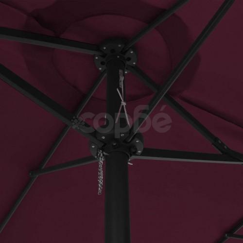 Градински чадър с алуминиев прът, 460x270 см, бордо