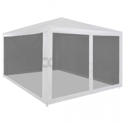 Парти шатра с 4 мрежести стени, 4х3 м