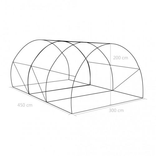 Оранжерия, 13,5м², 450x300x200 см