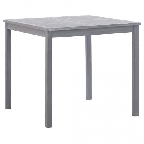 Градинска маса, сива, 80x80x74 см, акация масив