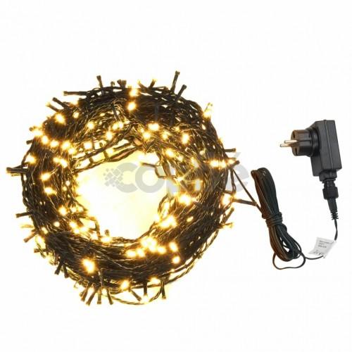 Светещ стринг с 400 LED 40 м 8 светлинни ефекта IP44 топло бял