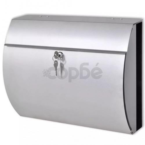 Пощенска кутия от неръждаема стомана 37,5 x 13 x 31 см