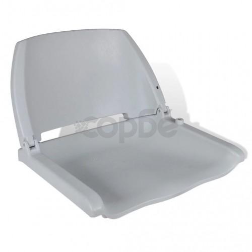 Седалка за лодка с облегалка, без възглавница, сива, 41 х 51 х 48 см