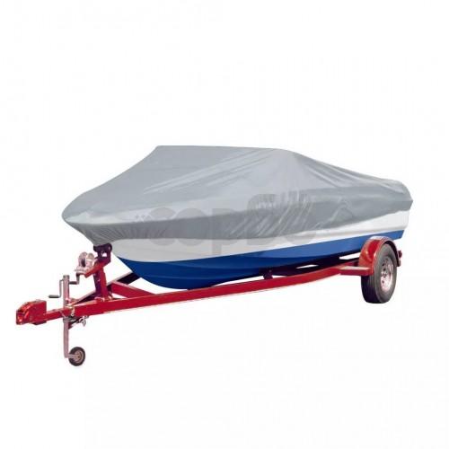 Покривало за лодка, сиво, дължина 427-488 см, ширина 173 см.