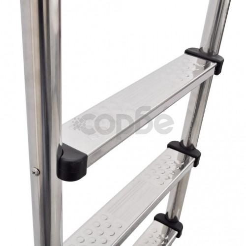 Стълба за басейн с 3 стъпала, неръждаема стомана, 120 см