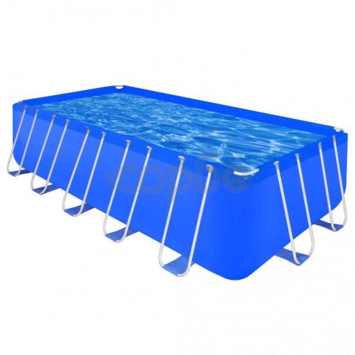 Правоъгълен плувен басейн със стоманена рамка, 540 x 270 x 122 см