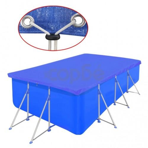 Покривало за басейн от PE, правоъгълна форма, 540 х 270 см, 90 g/m2