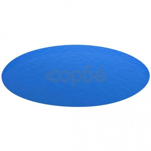 Кръгло покривало за басейн 488 см, син цвят