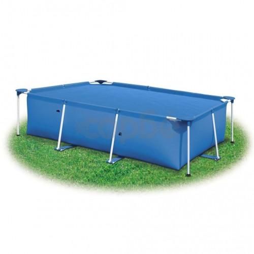 Правоъгълно покривало за басейн от PE 300 х 200 см синьо