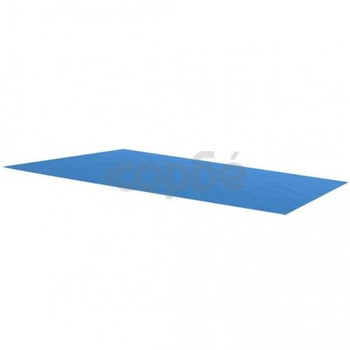 Правоъгълно покривало за басейн от PE 450 х 220 см синьо