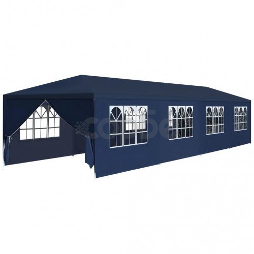 Градинска шатра, 3x12 м, синя